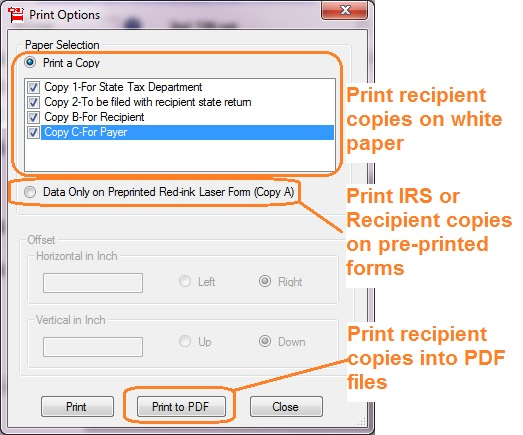 1099 Form Printing How To Adjust Printing Position