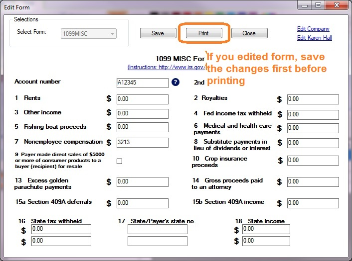 How to Print and File 1099-MISC, Miscellaneous Income