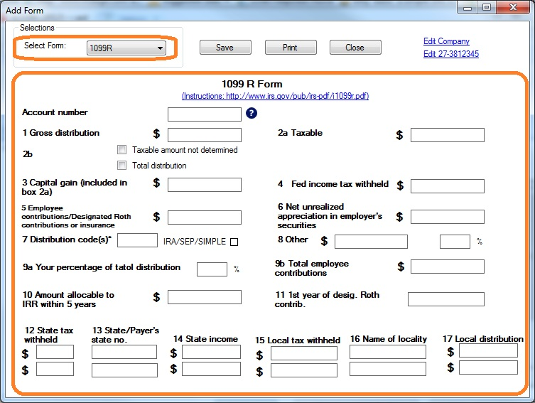 How to Print and File 1099-R