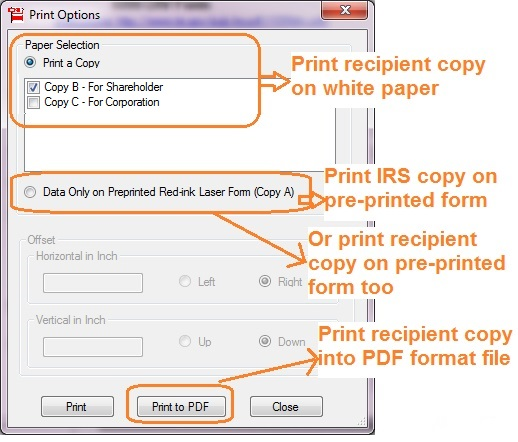 How To Print And File 1099 Cap Changes In Corporate Control And