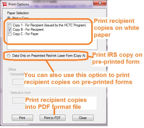 How To Print And File 1099 H Health Coverage Tax Credit Hctc
