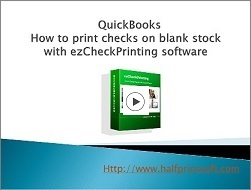 how to print quickbooks checks on blanks stock