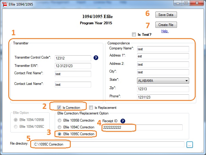 Aca ez1095 software how to efile correction forms for 1095 c only