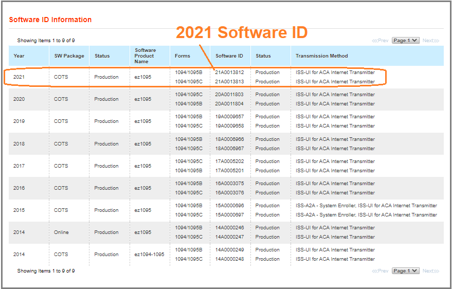 Ez1095 Software Is Approved By Irs To Generate Xml Documents For Aca