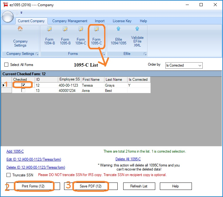 Ez1095 Software: How To Correct 1095-C And 1094-C Form