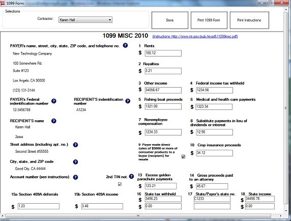 W-2 1099 preparing software