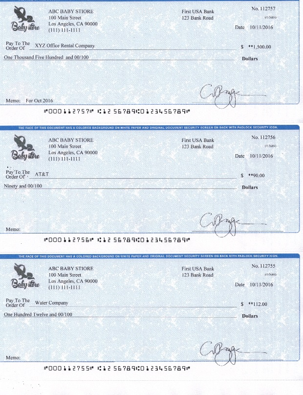 picture relating to Printable Business Checks called How in the direction of Print Your Personalized Check out inside Residence