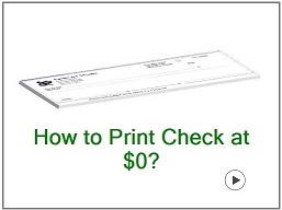 how to print check at $0