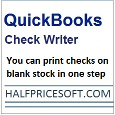 quickbooks check writer software