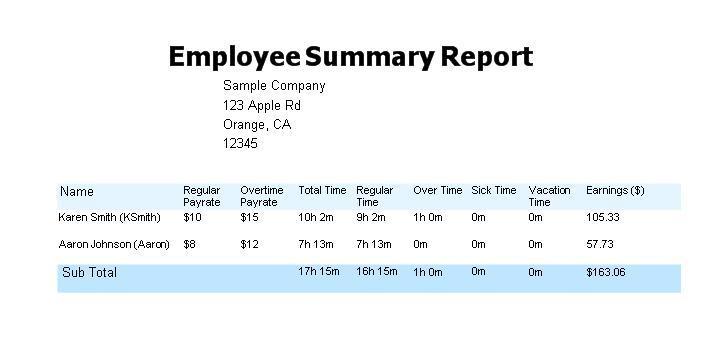 Employee TimeClock: ezTimeSheet Attendance, Vacation & Leave Tracker