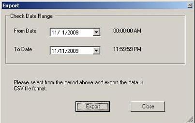 Check Printing software export checks