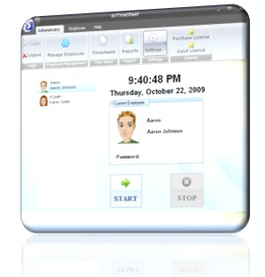 time tracking software, time sheet software, application automate payroll