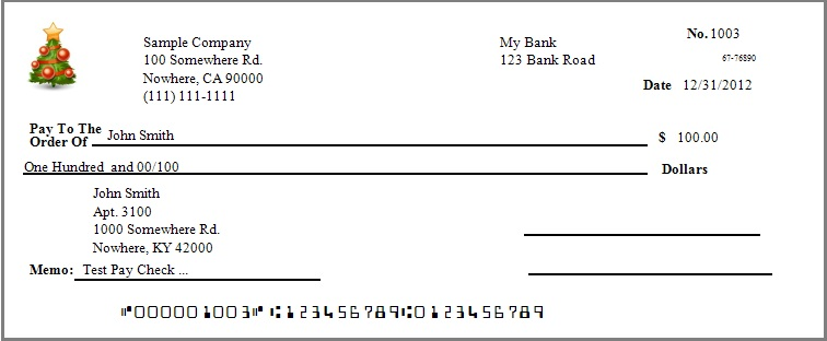 paycheck with two signature lines