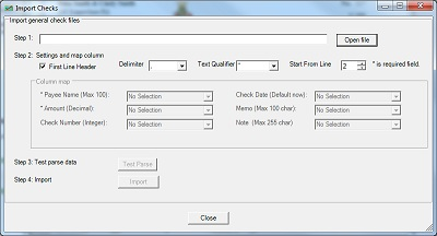 Check Printing software import checks