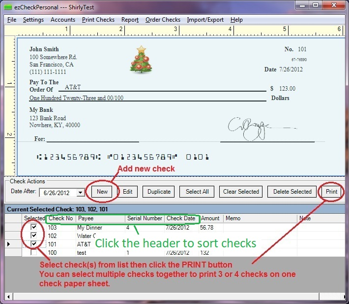 what is a serial number on a check