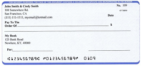 ezCheckPersonal makes it easy to print pocketsized personal check – Blank Cheque Template