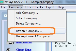payroll software restore data