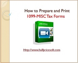 how to print tax form 1099