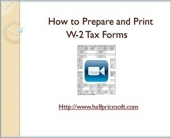 how to print W2