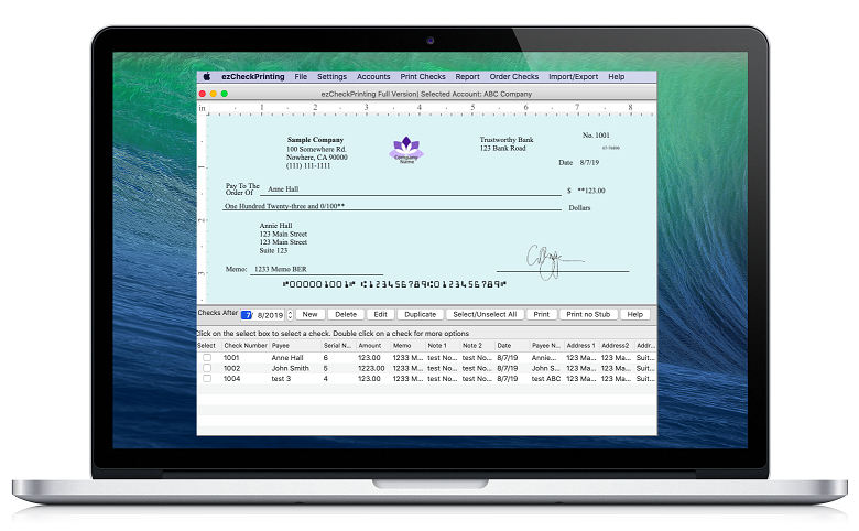 Easy-to-Use Check Printing Software For MAC Customers