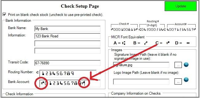 ezCheckPrinting check setup