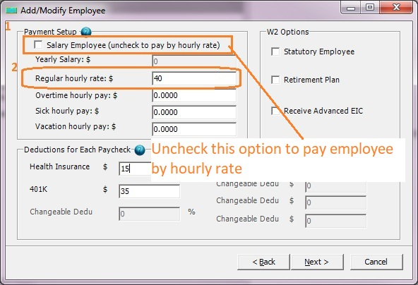How to Create a Paycheck by Hourly Rate for an Employee