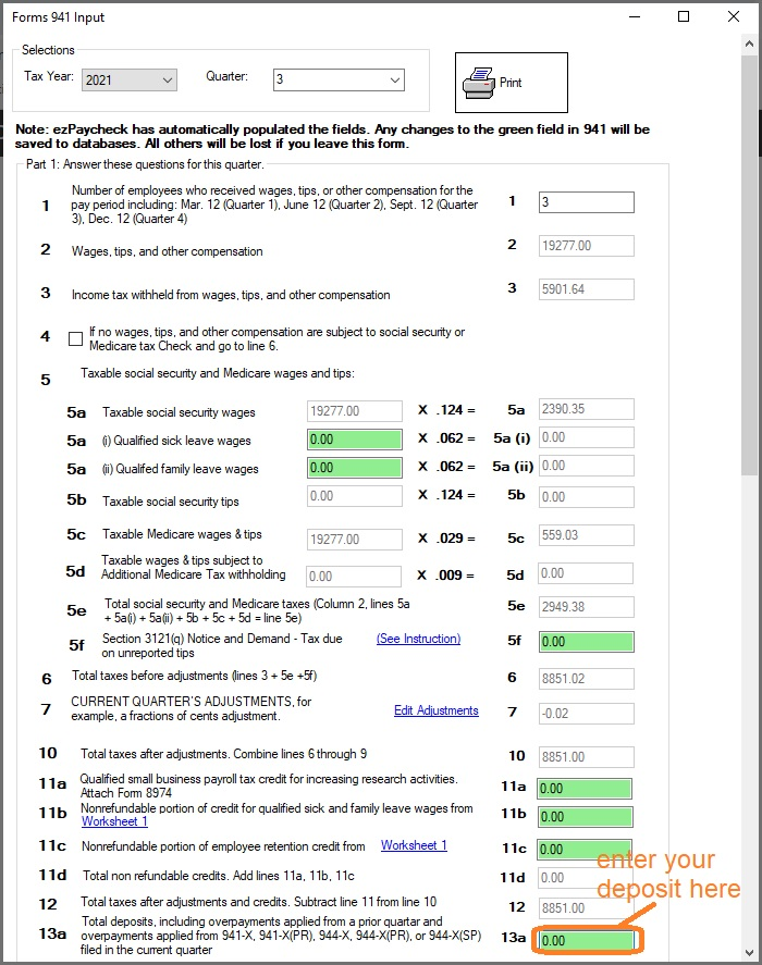 941 form report  ezPaycheck Payroll: How to Prepare Quarterly Tax Report
