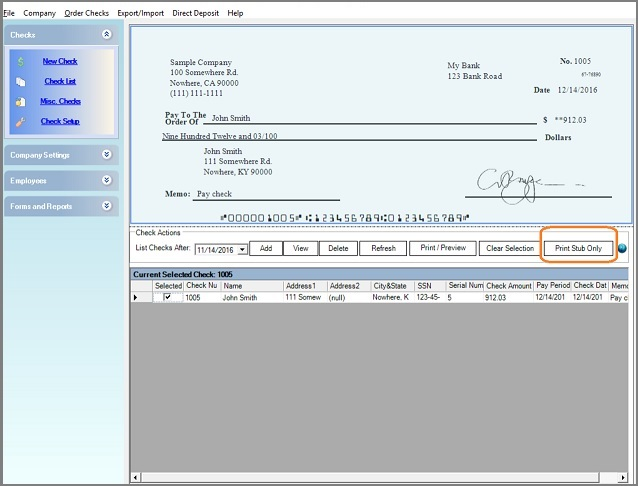 How To Make And Print Paycheck Stubs With Ezpaycheck Software