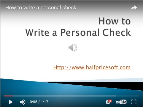 how to print personal pocket-sized checks on blanks stock