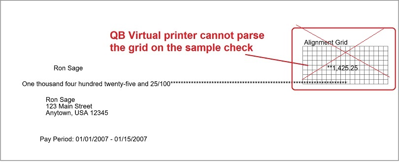 QuickBooks Check Printing: Data Type Mismatch in Criteria