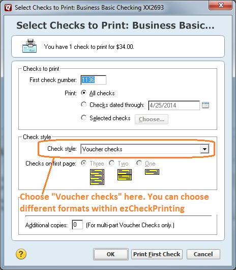 Steps to Print Quicken Checks on Blank Stock