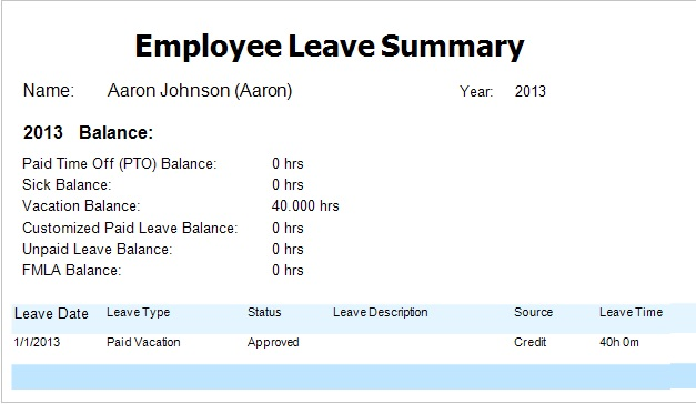 Time Tracking How To Award Employee Vacation Hours Manually