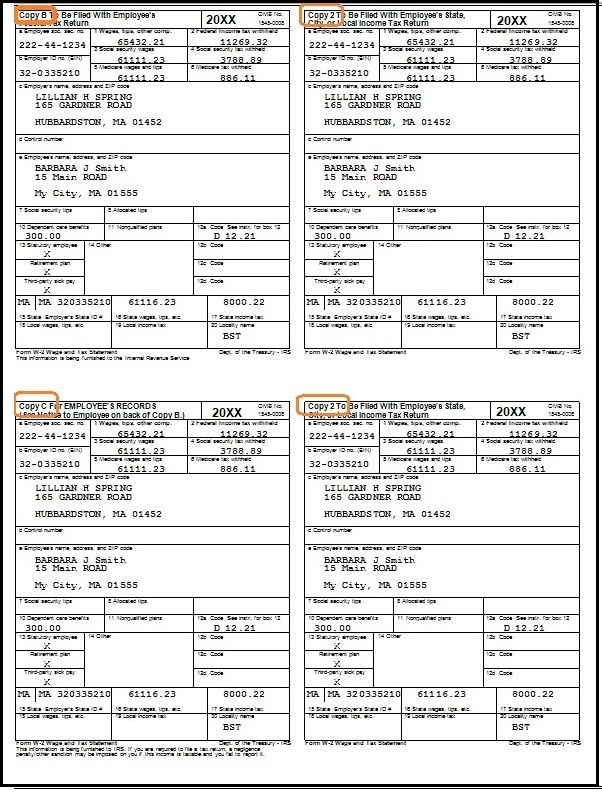sample of w2 form  How to Print Multipe W12 Forms on the Sheet for Employees