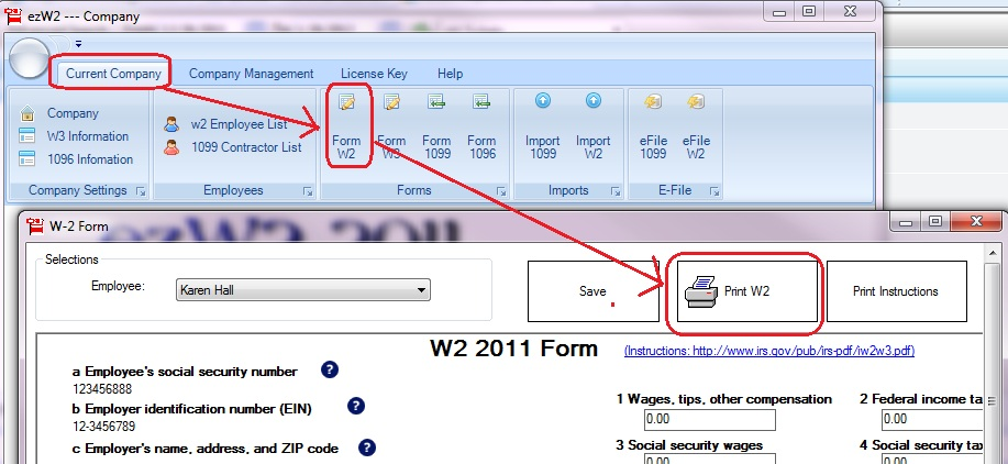 How to Fill out and Print W2 on Red Forms for SSA