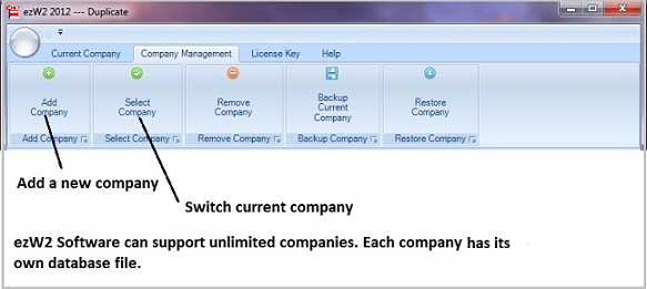 W2 software company management screen