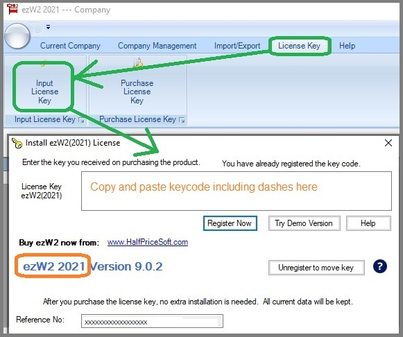 ezW2 Software: Invalid License Key Issue and Solution