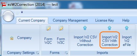 W2C Form Filing: How to Import Data From External File